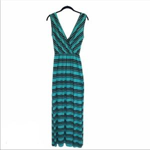 COPY - Liberty Love teal sleeveless striped maxi …